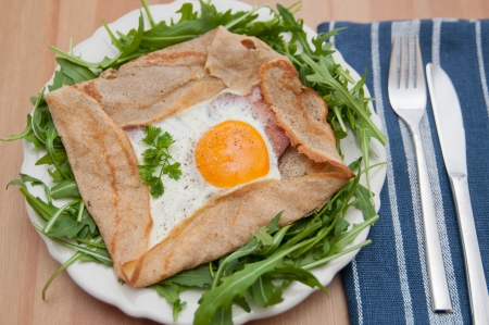 French Buckwheat Crepe - Galette de sarasin Stock Photo - 25389495