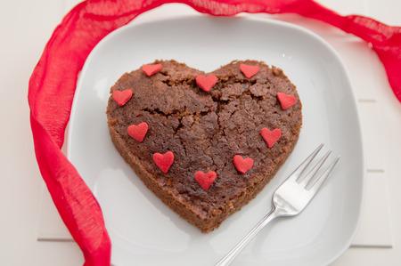 Heart Shaped Brownie Cake photo