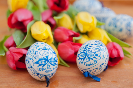 Hand painted Easter Eggs photo