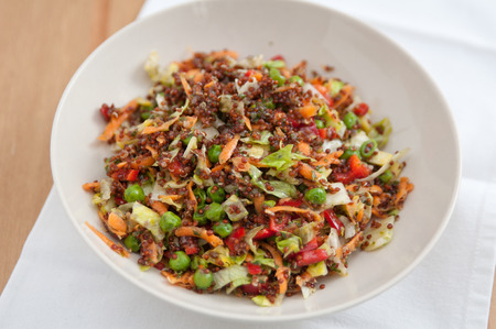 coloful: Quinoa Salad with coloful vegetables