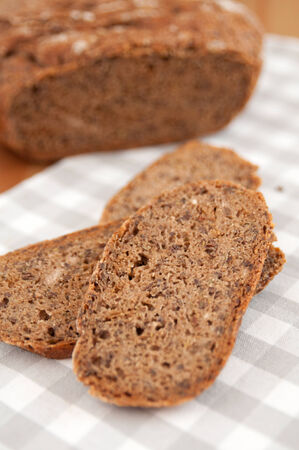 Freshly baked traditional rye bread photo