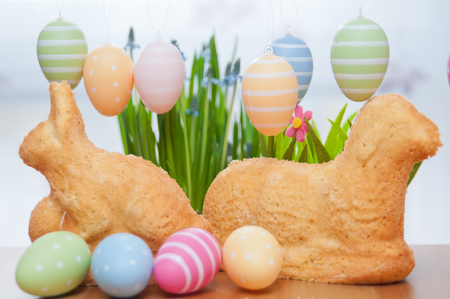 Easter Bunny Cake Stock Photo - 26876328
