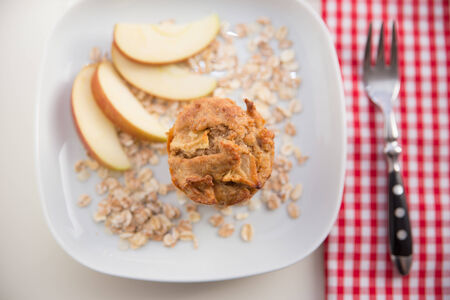 Granola Muffin with apple photo