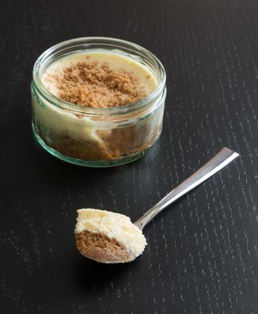 Cheesecake in a jar photo