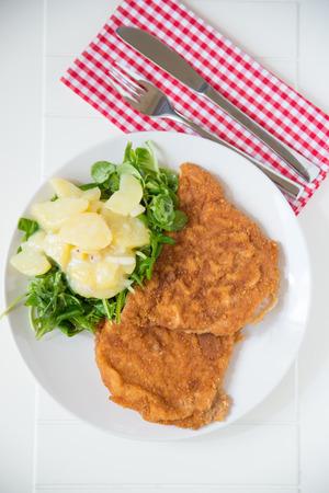 breaded pork chop: Original Wiener Schnitzel