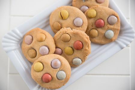 smarties: Cookies with smarties