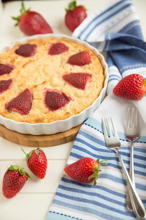 vanilla cake: Homemade Strawberry Vanilla Cake
