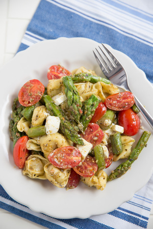 tortellini with asparagus photo