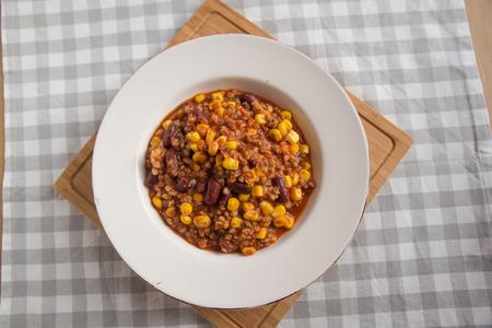 con: Chili con Carne Stock Photo