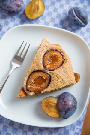 afters: Plum Cake Stock Photo