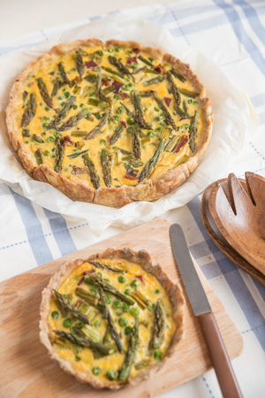 short crust pastry: quiche Stock Photo