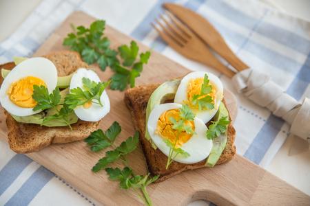 multi grain sandwich: avocado toast Stock Photo