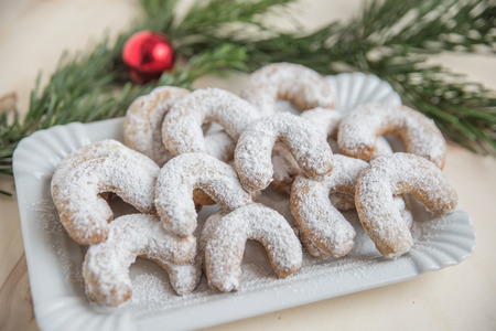Fresh Vanilla Cookies With Powdered Sugar For Christmas