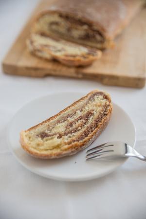 sprinkled: Home made yeast strudel