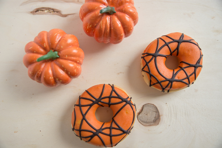 Halloween donuts Stock Photo