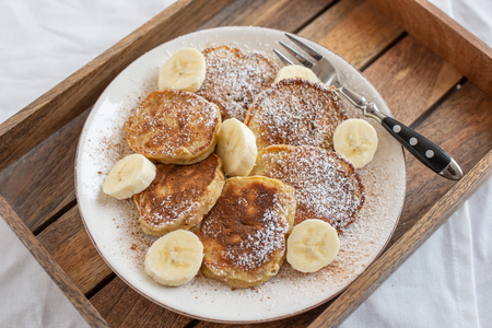 Banana pancakes Banco de Imagens