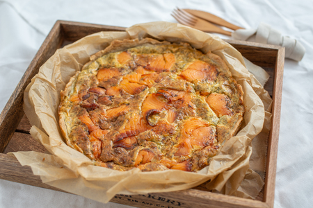 Home Baked Salmon Quiche