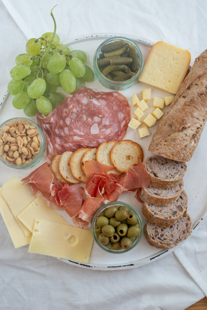Mix of different snacks and appetizers