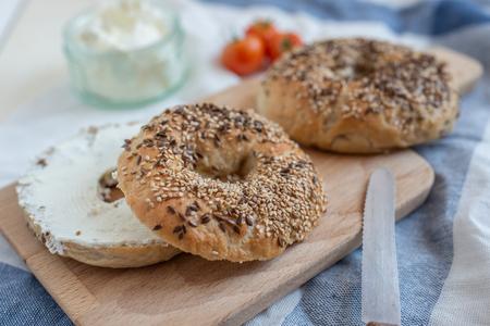 Homemade new york bagels