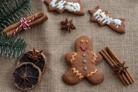 gingerbread Christmas cookies Standard-Bild - 113103715