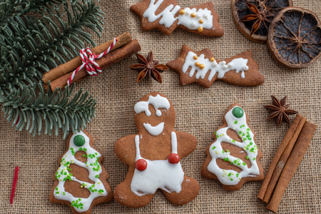 gingerbread Christmas cookies Standard-Bild - 113103717