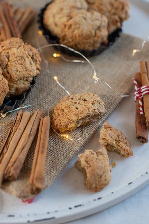 Oatmeal christmas cookies Standard-Bild - 113103893