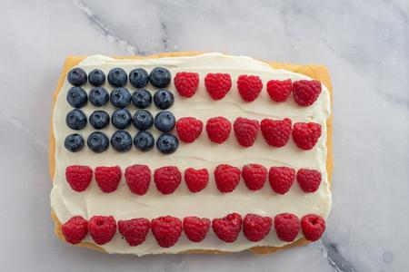 USA Flag Cake Imagens