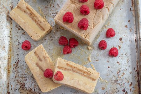 Ice cream semifreddo Stock Photo