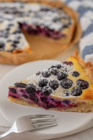 Blueberry cheesecake 版權商用圖片 - 129171902