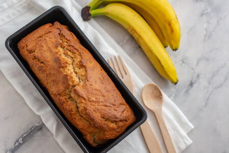 Baking healthy banana bread