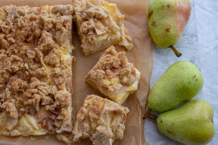 Tasty Homemade Pie With Pears