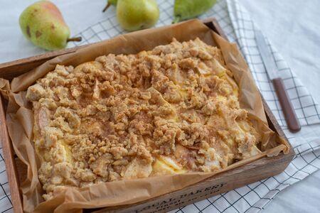 Tasty Homemade Pie With Pears Standard-Bild