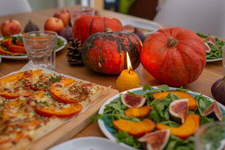 Thanksgiving Celebration Traditional Dinner Setting