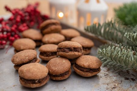 Baci di dama, Hazelnut shortbread sandwiches filled with chocolate cream