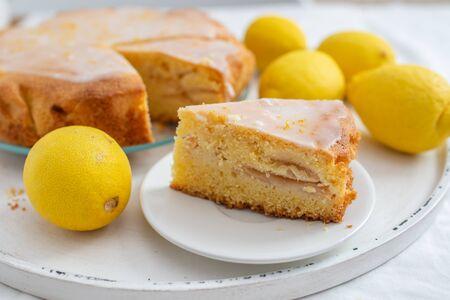 Pan di Spagna al limone Archivio Fotografico
