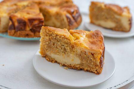 Carrot cake cheesecake 版權商用圖片