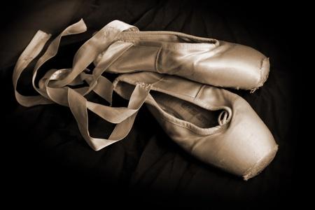 en pointe: Worn Ballet Shoes