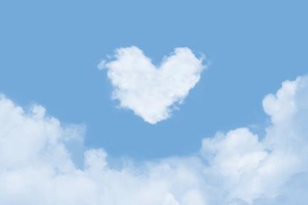 Heart Shaped Cloud Stock Photo