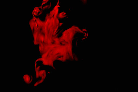 Smoke abstraction red color black background Standard-Bild - 108020151