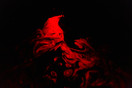 Smoke abstraction red color black background Standard-Bild - 108020164