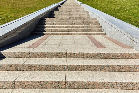 Long stone stairway to heaven on a sunny day