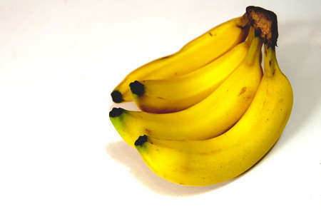 Bananas on a white background Foto de archivo