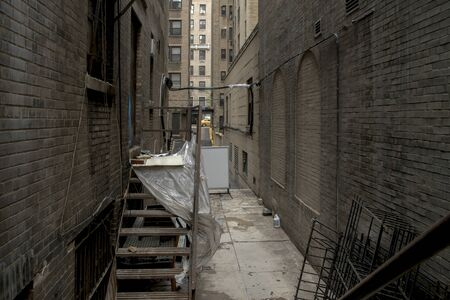 Dirty back alley of the streets of New York Banco de Imagens