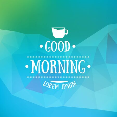 Abstract vector blurred background with good morning typography 向量圖像