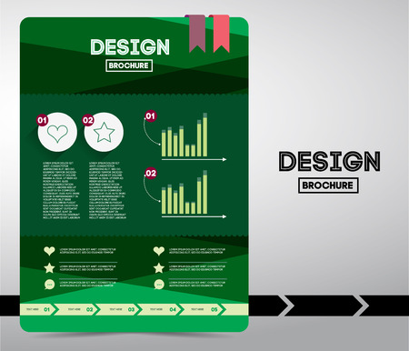 Flyer or brochure on business tematico use of text. Infographic and schedule statistics