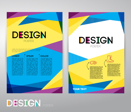 Business flyer or poster to print. Abstract vector background for design poster