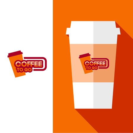 coffee to go: Vector Design Coffee Cup  for Coffee shop or Cafe. For Brochures and Flyers.