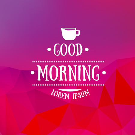 good morning: Abstract vector blurred background with good morning typography Illustration
