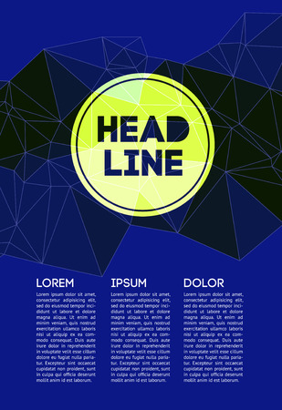 publication: Set Abstract Vector Business Flyer  Brochure Design Template with Colorful Geometric Triangular Background in Polygon Style. With Business Publication, Web, Promotion or Book