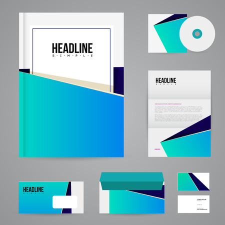 Corporate identity template. Vector company style for brandbook and guideline.